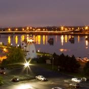 Fredericton cityscape at dawn cropped horizontal